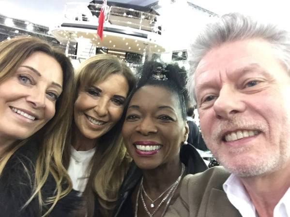 Victoria Gerlis with Alexis Lewis and Baroness Floella Benjamin and friend support the PAH Breast Cancer Clinical Trials