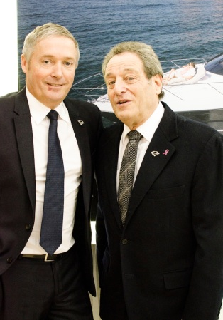 (L to R) Christopher Head and David Lewis lead the way in luxury Sunseeker yacht sales