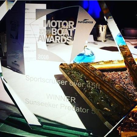 WINNER! The award for the Sunseeker Predator 57