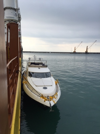 Handover has been completed and the vessel is currently in transit from San Remo to Zeebrugge on its return to the UK