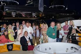 Guests will enjoy hospitality on board a Sunseeker Yacht on Saturday 14th May