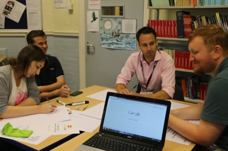 Chris Lambert-Gorwyn during a mentoring session