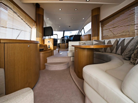 """SUGAR"" is a great example of the Manhattan 52 flybridge yacht. Featuring many characteristics of the larger boats, with a spacious main saloon deck, fully equipped galley and very impressive accommodation facilities."