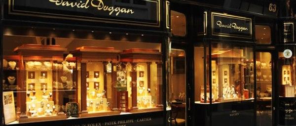 David Duggan watches in Burlington Arcade, London