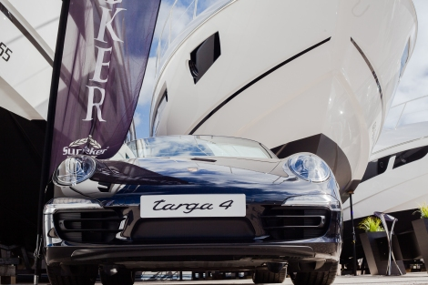 Porsche's new 911 Targa with our beautiful Sunseekers