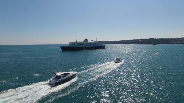 San Remo & Predator 57 cruising into Guernsey harbour