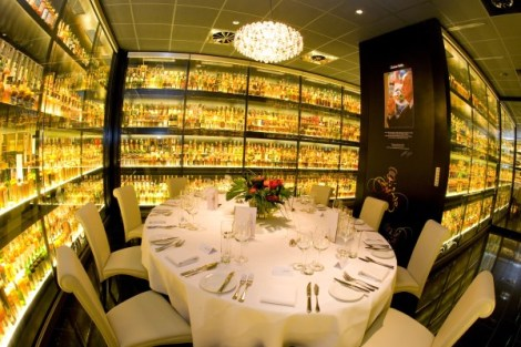The Diageo Claive Vidiz Whisky Collection in Edinburgh is a dazzling space, suffused with the Amber glow from over 3000 bottles of Scotch whisky, some dating back over a hundred years.