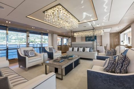 Renowned design firm HPM excelled on their brief for a Miami/Ibiza beach chic inspired interior, with a stunning array of textures and features throughout all four decks