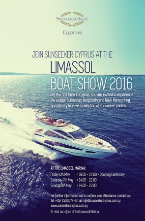 The Limassol Boat Show 2016 anticipates to gather an average of 50 exhibitors from Cyprus, Greece, Russia and the UK, and expects over 10,000 visitors from all over Europe!