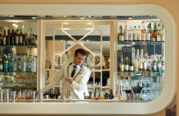 Guests at the American Bar are encouraged to sit up at the bar where they can interact with the bartenders face to face