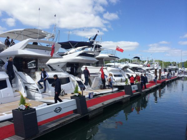 Sunseeker during the British Motor Yacht Show
