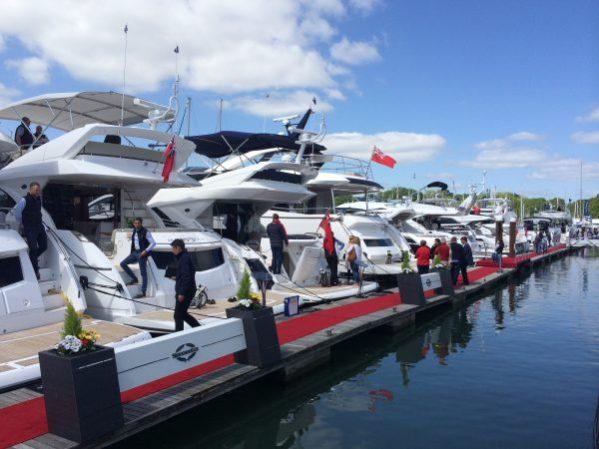 Sunseeker during the British Motor Yacht Show