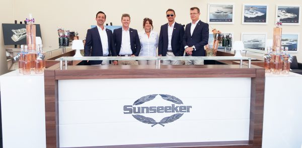 Sunseeker hospitality awaits visitors to the Sunseeker Yacht Show
