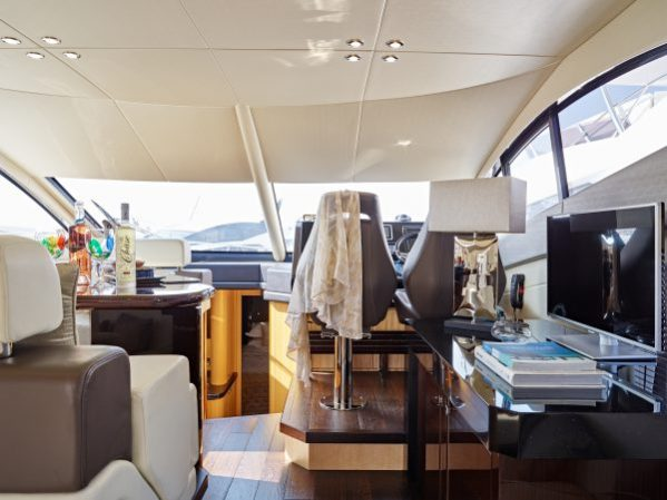 Sunseeker Manhattan 55 dressed by Suzy Dallas Interior Design