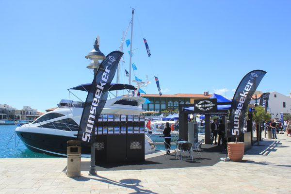 Sunseeker during the Limassol Boat Show