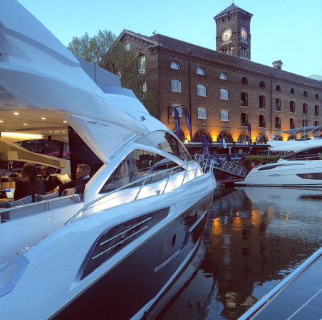 Being a centrally located London show, visitors had easy access to the beautiful St Katherine Marina, which is situated just off the Thames river and the Tower Bridge