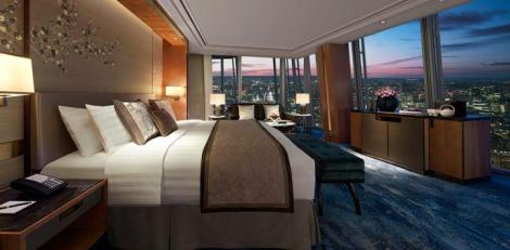 Luxury hotel occupying the 34th to the 52nd floors of architect Renzo Piano's iconic Shard building