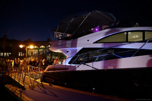 The Sunseeker Manhattan 55 was on display during the event