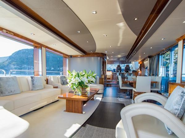Interior of the Sunseeker 28 Metre Yacht ICHIBAN