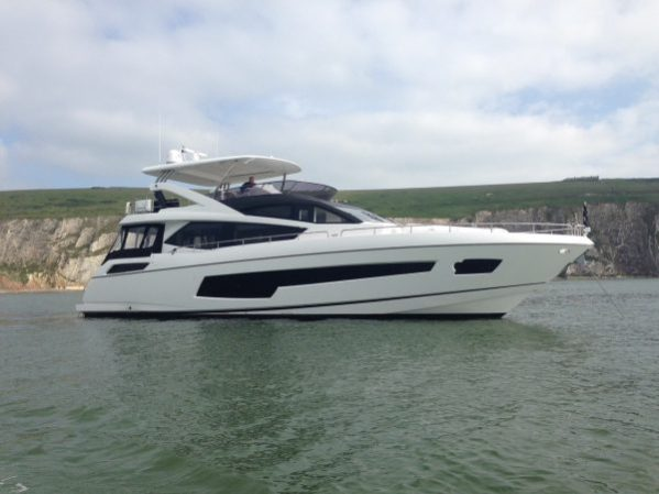 The Sunseeker 75 Yacht 'HARD 8'