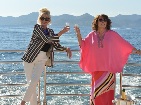 Cheers, sweetie darling! - Patsy and Edina on the back of 'THUMPER'