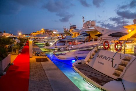 Lit up at night; Marina Ibiza looks just as stunning at night as she does during the day