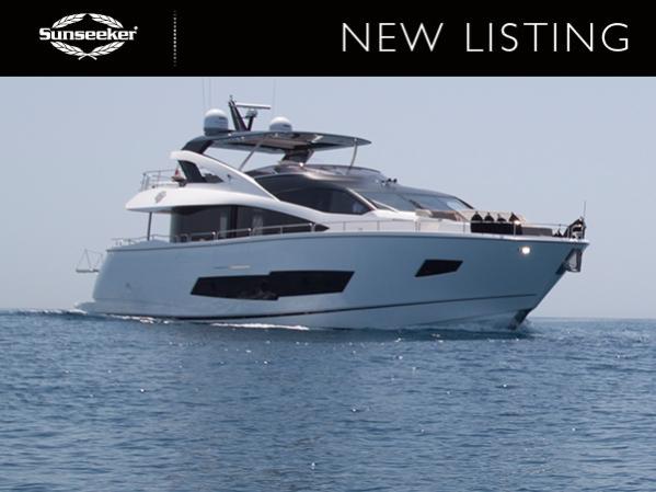 The stunning Sunseeker 86 yacht 'ROAMING SPUR'