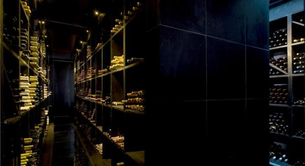 Vila Joya's wine cellar boasts some of the finest wines in the world