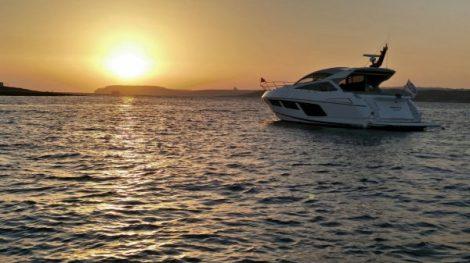 Stunning sunset over Sunseeker Malta's Summer Sundown
