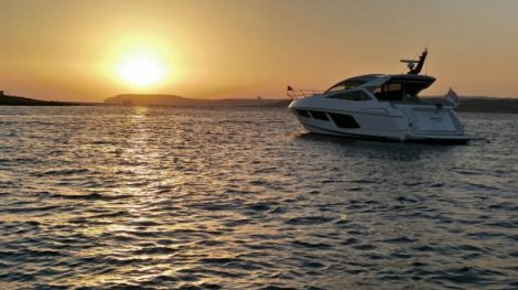 Stunning sunset over Sunseeker Malta's Summer Sundown