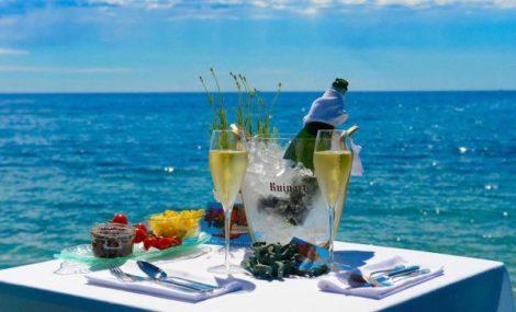 Enjoy spectacular views at the Anjuna Bay restaurant and bar