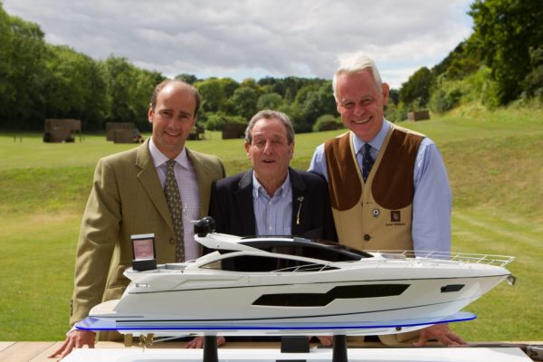 From the left: Boodles' Director James Amos, Sunseeker London's Group Managing Director David Lewis and RBSS Managing Director Dylan Williams