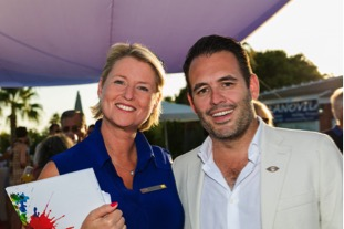 Sunseeker Portugal, Director Steve Handy and Director of Quinta Properties Kerstin Buechner at the Launch of Vale do Lobo new office