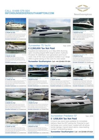 With a vast range available make sure to visit the Premier Marina Used Boat Show - Please note, some vessels are off site