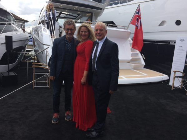 Eddie Jordan, Melissa Alder and Robert Braithwaite opening the Sunseeker Stand