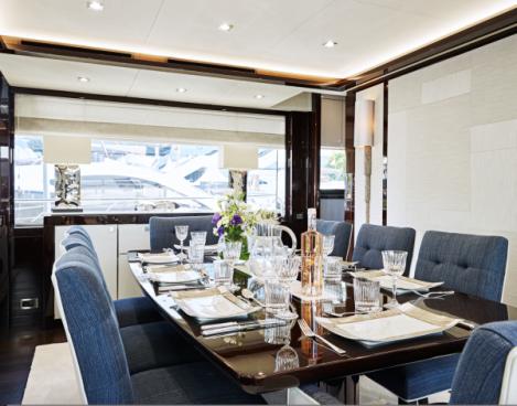 Suzy Dallas' beautifully designed dining room