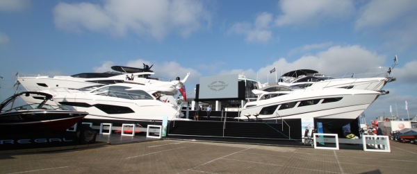 The Sunseeker stand at the Southampton Boat Show