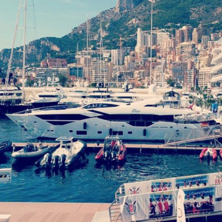 Looking breathtaking in Port Hercules, the Sunseeker 116 waits to greet visitors Monaco Yacht Show this week