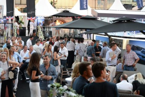 The Sunseeker stand was a hit with guests throughout the six days of the Cannes Yachting Festival
