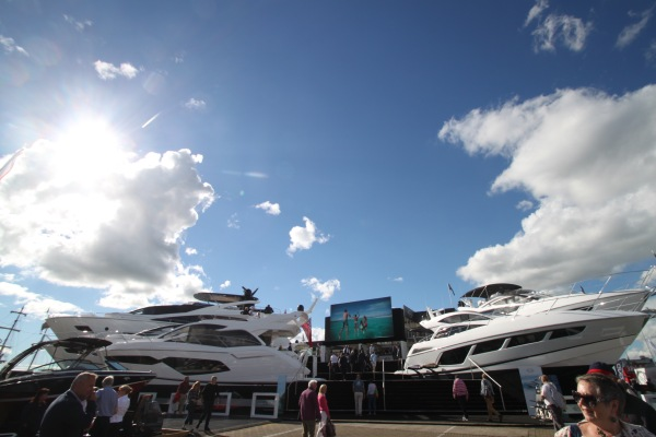The 12 Sunseekers on display on the Sunseeker Stand drew crowds in from all over the world