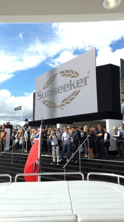 The Sunseeker Stand was launched in true British style