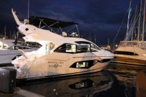 The Sunseeker Stand in Port Vell