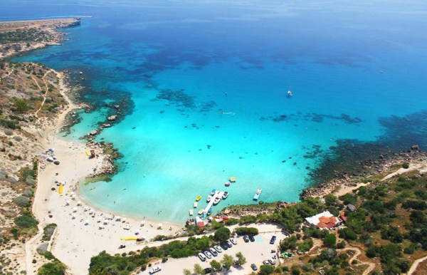 The Grecian Park Hotel is situated right above the Konnos Bay Beach, offering breathtaking views of the Mediterranean.