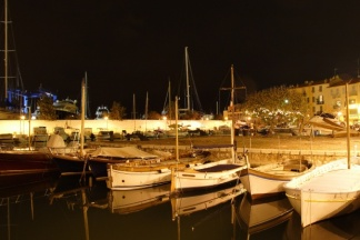 At night the marina is as just picturesque as it is in the sun