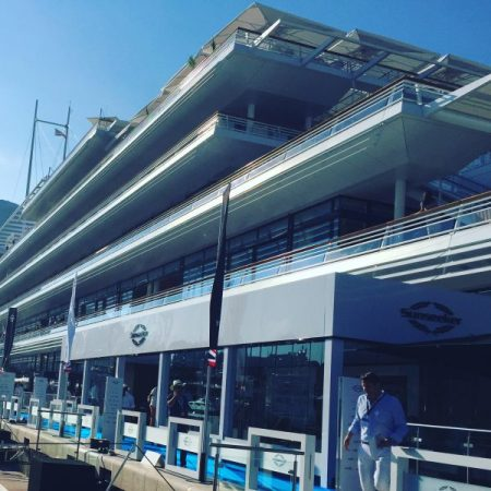 The Sunseeker hospitality lounge at the Monaco Yacht Show
