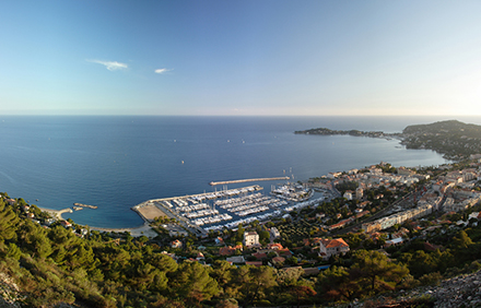The beautiful Beauliue Marina from above