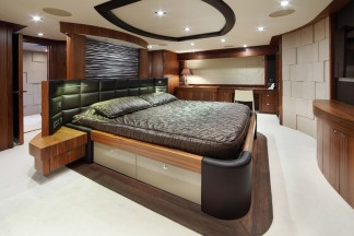 The Sunseeker 30M spaciously accomdates all its guests with four ensuite cabins