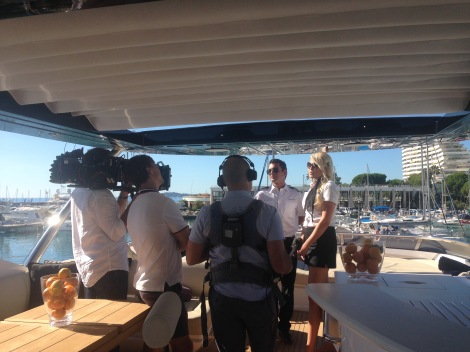 Some of the crew on board during the filming of 'Britain's Biggest Superyachts: Chasing Perfection'