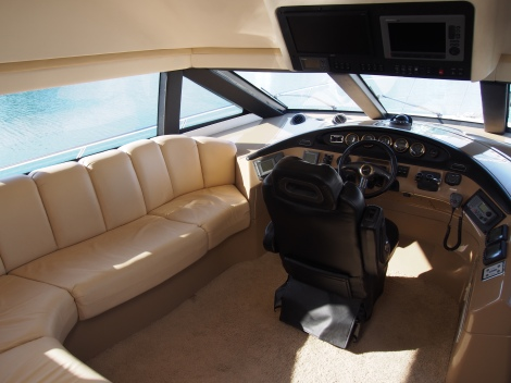 The Pilothouse is stylish yet comfortable for all cruising weathers