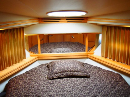 The VIP bedroom of 'SOPHIA' is situated forward in the boat